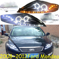 2008 2009 2010 2011 2012y Car Styling for Mondeo Headlight LED DRL Fog for mondeo fusion headlamp