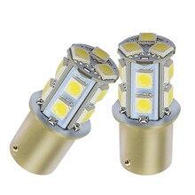 10 Uds 1156 13smd 5050 6500K luz trasera de estacionamiento blanca luz de freno bombilla LED luz de señal de dirección