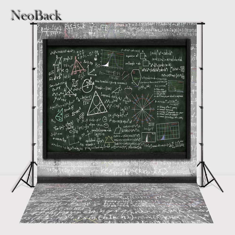 NeoBack Vinyl cloth School Black Board Photography Backdrop children kids backdrops Printing Studio Photo backgrounds P1482 harman kardon onyx studio 2 black
