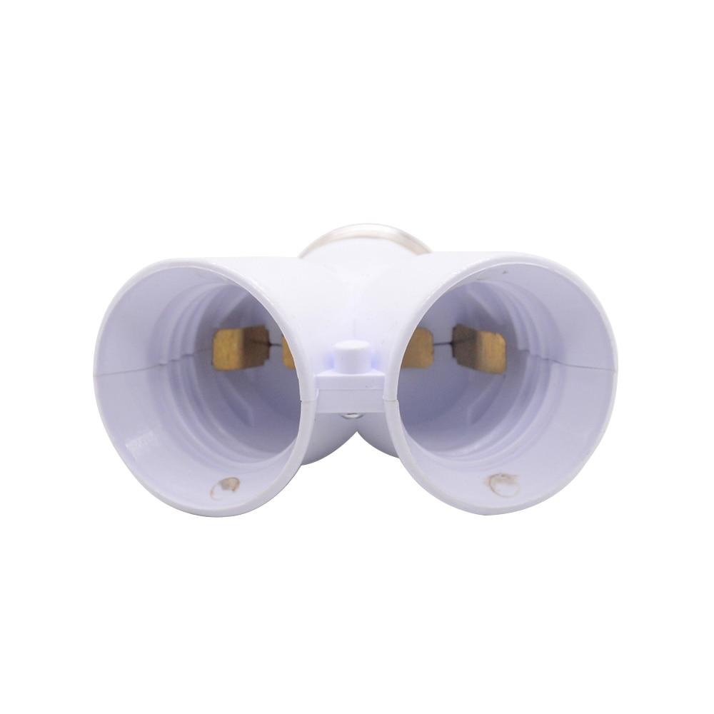 1 шт. белый цвет огнеупорный материал конвертер гнездо преобразования светильник лампа база E27 до 2 E27 держатель лампы конвертер