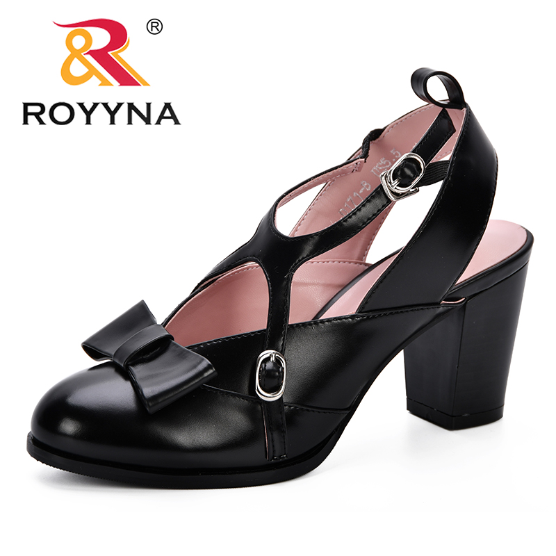 ROYYNA New Designer Zapatos Mujer Chunky High Heels Ladies Round Toe Pumps Women Shoes Feminimo Party Ankle Strap Summer SandalsROYYNA New Designer Zapatos Mujer Chunky High Heels Ladies Round Toe Pumps Women Shoes Feminimo Party Ankle Strap Summer Sandals