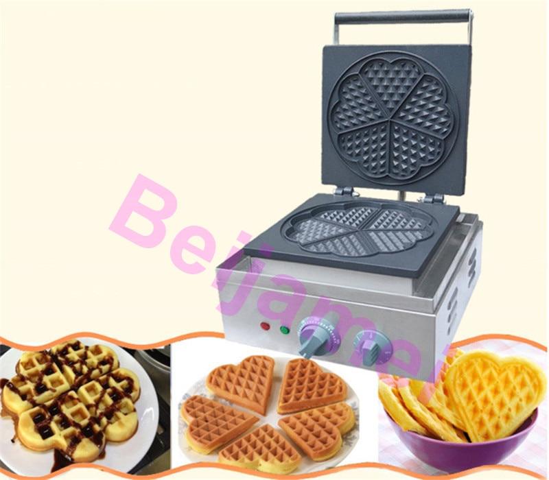BEIJAMEI Restaurant Electric Heart Shape Waffle Maker Machine 110v 220v Commercial Mini Heart Waffles Machine