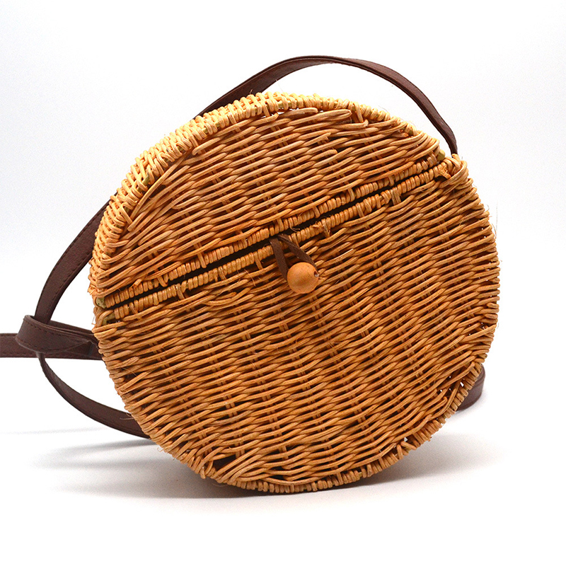 Cover Bamboo Female Rattan Straw Bag Woman Handbag Bolso Mimbre 45