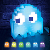 Pac Man Game Theme LED Night Light Multicolor USB Rechargeable Cartoon Night Lamps For Children Kids Room Decoration Lighting