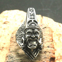 Newest Men Boy 316L Stainless Steel Cool Silver Punk Gothic Skull Newest Ring