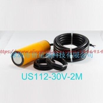 Free shipping   Ultrasonic distance measurement kit US112-30V-3M analog quantity, NPN, output ultrasonic sensor