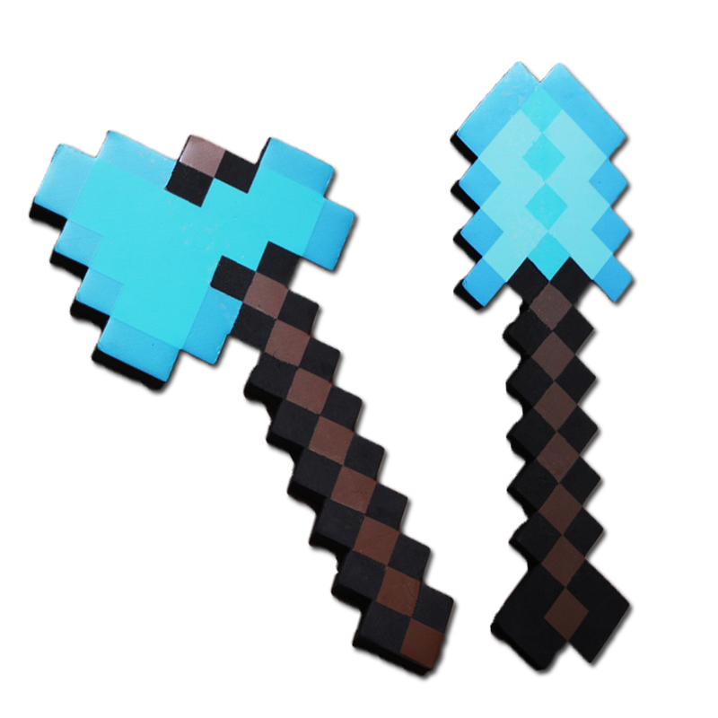 Game Minecraft Toys Minecraft Sword Pickax Shovel Axe EVA Action Figures Model Toys Kids Brinquedos Gifts 12pcs set children kids toys gift mini figures toys little pet animal cat dog lps action figures