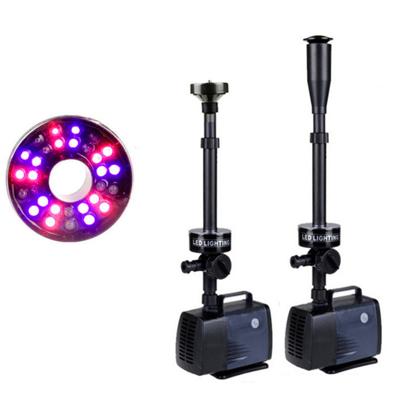 Ev ve Bahçe'ten Su Pompaları'de Balık Gölet Akvaryum Dalgıç Su Pompası Bahçe Dekorasyon Çeşme Pompası LED ışık Renk Değişimi Çeşme Makinesi 45/50/ 75/85 W'da  Grup 1