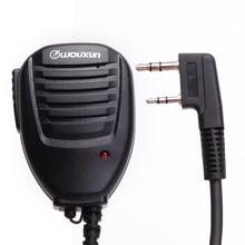 מקורי Wouxun רמקול מיקרופון עם מחוון אור עבור Wouxun ווקי טוקי KG UVD1P KG UV8D KG UV9D בתוספת ect 2 דרך רדיו