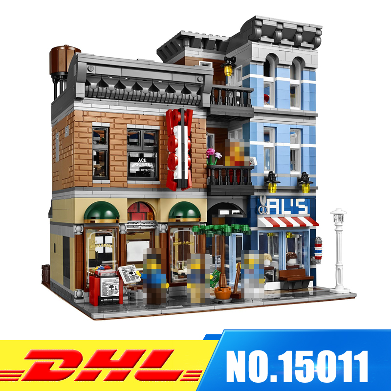 DHL More Stock  2262pcs LEPIN 15011 The Detective's Office Model Building Blocks Bricks intelligence Toys Compatible With 10197 dhl lepin 18032 2932 pcs the mountain cave my worlds model building kit blocks bricks children toys clone21137 in stock