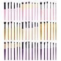 6 Unids En Multiples colores Highlighter Eyeshadow Colorete Maquillaje de Ojos Profesional Cepillo de Base Plana de la Ceja Maquillaje Herramientas Kits