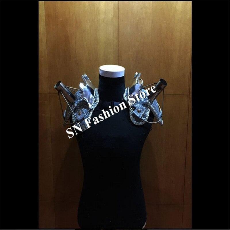 AS88-2 Laulja külma ilutulestiku riided Silver tantsu baari õlg - Pühad ja peod - Foto 6