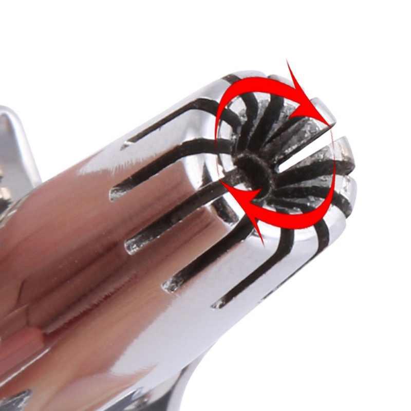 ステンレス鋼マニュアル洗濯鼻トリマー装置機械式鼻毛トリマーシェービングと脱毛ツール