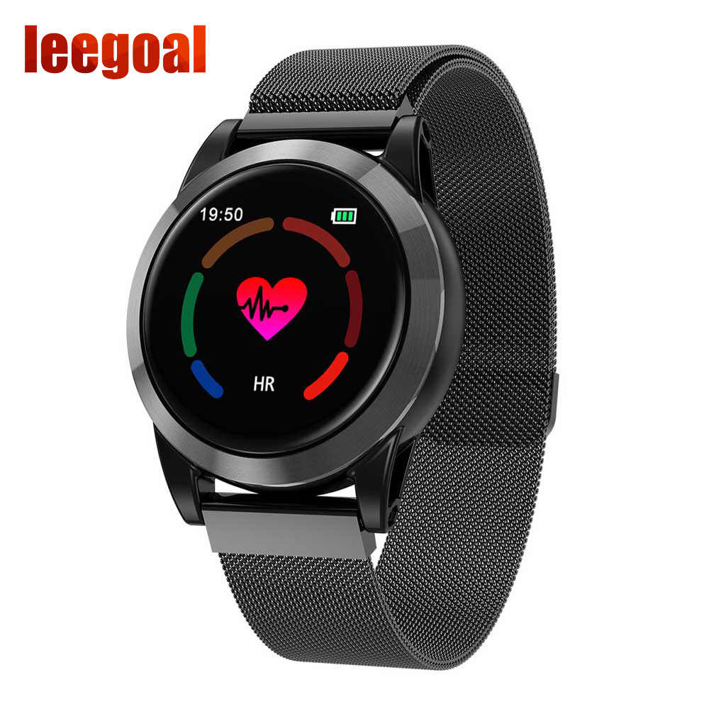 Smart Watch R15 Heart Rate Blood Pressure Sleep Monitoring IP67 Sports Information Reminder Sports Stainless Steel Frame Bracele