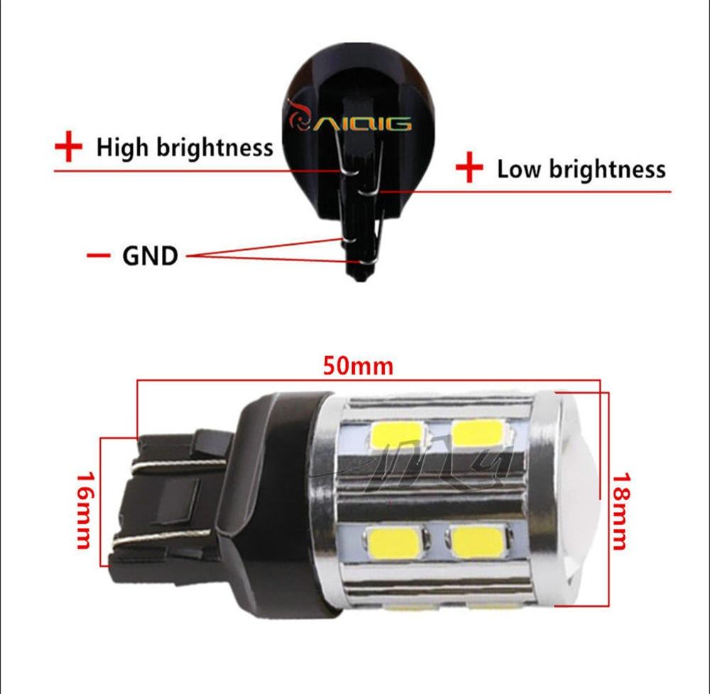 7443 7440 LED žarulje za automobile 12 SMD 5730 Xenon bijele W21 / - Svjetla automobila - Foto 5