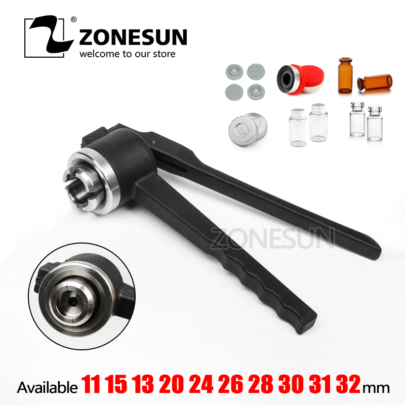 ZONESUN  31mm Stainless Steel decapper tool, manual Crimper / Capper / Vial WITH EMPTY UNSTERILE VIALS LIDS AND RUBBERSZONESUN  31mm Stainless Steel decapper tool, manual Crimper / Capper / Vial WITH EMPTY UNSTERILE VIALS LIDS AND RUBBERS
