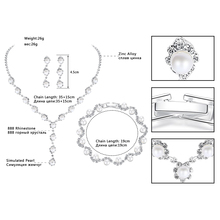 Mecresh Simulated Pearl Wedding Jewelry Sets