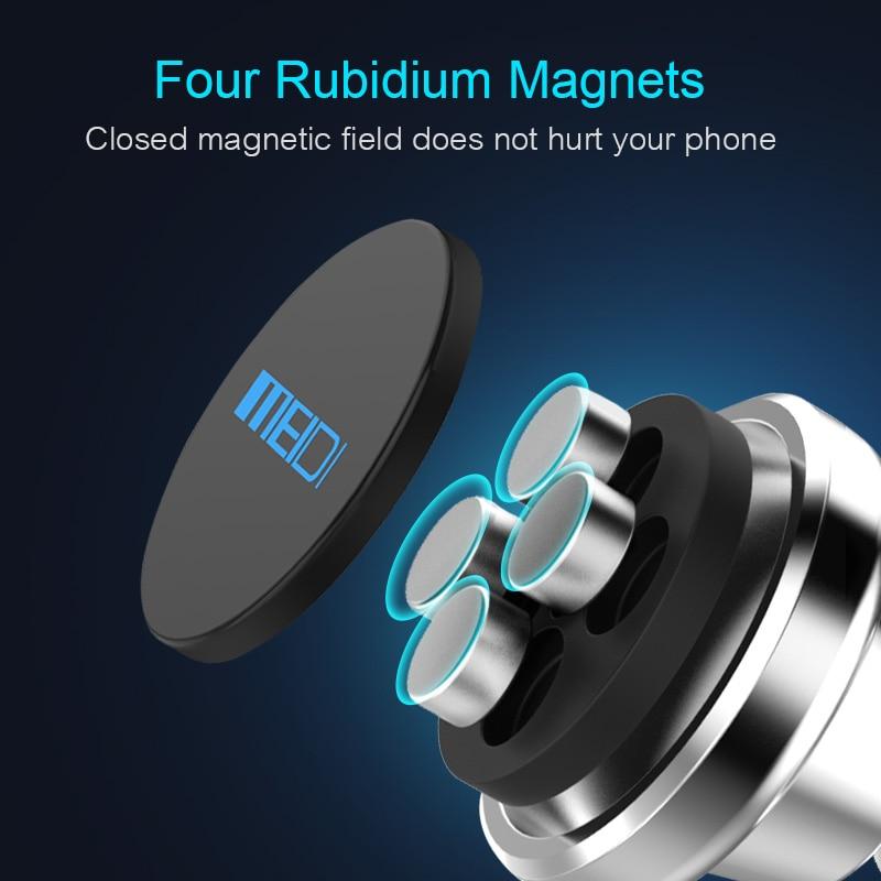 MEIDI Metal Soporte magnético para teléfono de coche Soporte de - Accesorios de interior de coche - foto 4