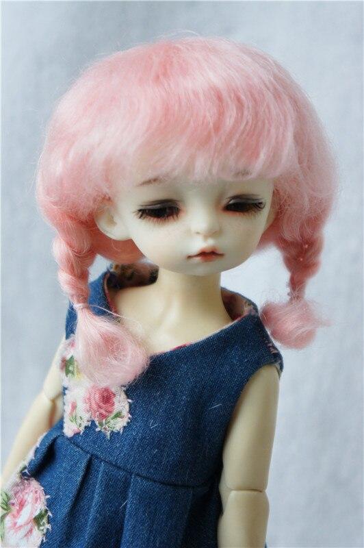 JD253 1/6 YOSD mohair wigs size 6-7 inch fashion short double braid BJD hair