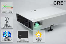 china led projector latest laser 200inch large screen 3d proyector cre x3000