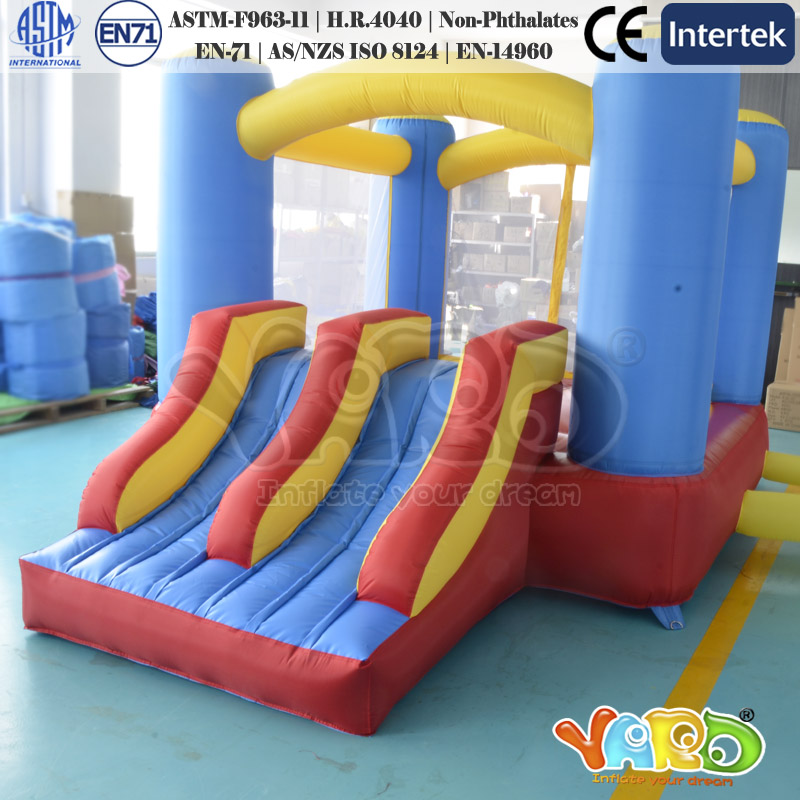 Mini Inflatable Bouncer Bounce House Jumping Castle With Double Slides inflatable slides inflatable castle inflatable combinations inflatable bouncer hxb 423