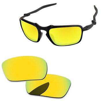 1c1d756f13 Lentes de repuesto de espejo dorado Polycarbonate-24K para gafas de sol  Badman marco 100% Protección UVA y UVB