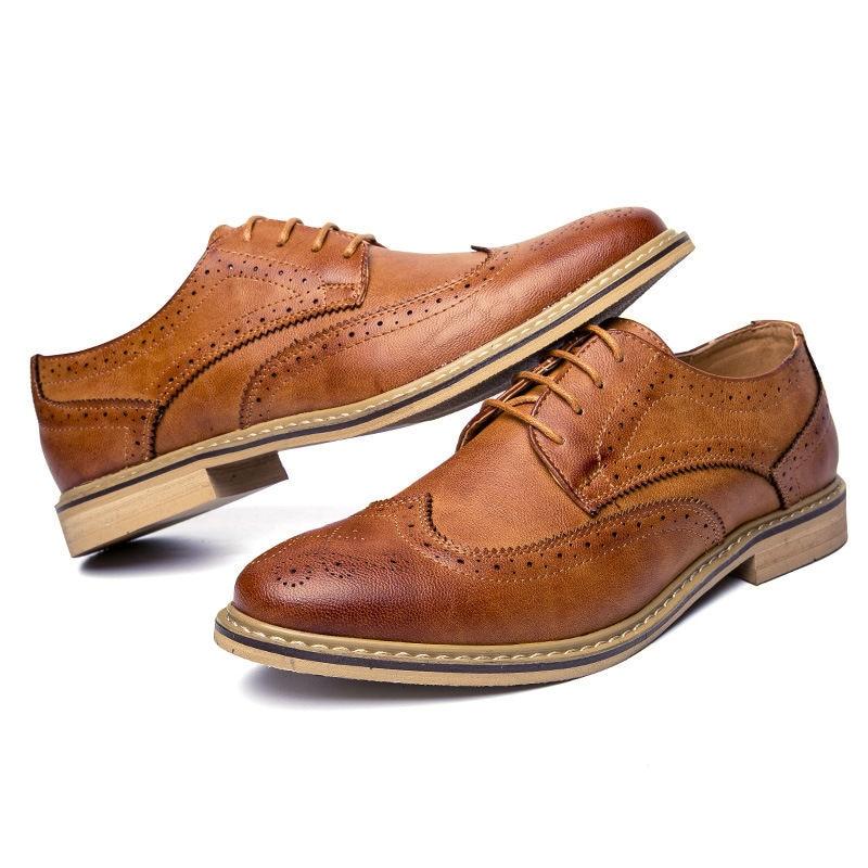 Marca Vestido Luxo grey Couro brown Black Casuais Britânico Shoes Para 2019 Shoes Apartamentos Moda Shoes De Homens Brogue Oxfords Novo Sapatos Estilo Mens Eq6vZ1xwvt