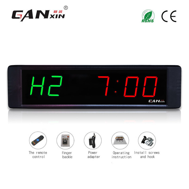[Ganxin]1″ Programmable New Designed High Quality Remote Control Led Crossfit Remote Training Timer
