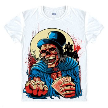 Metal Punk Rock Skull Gamble game T shirt Hip Hop Style New Original Design T-shirt Cool Fashion Man women tshirt Color 3d Print