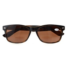 R093 Bifocal Eyekepper Classic Bifocal Sunglasses Men Women (Grey Lens/Brown Lens) +1.0/1.25/1.5/1.75/2.0/2.25/2.5/3.0