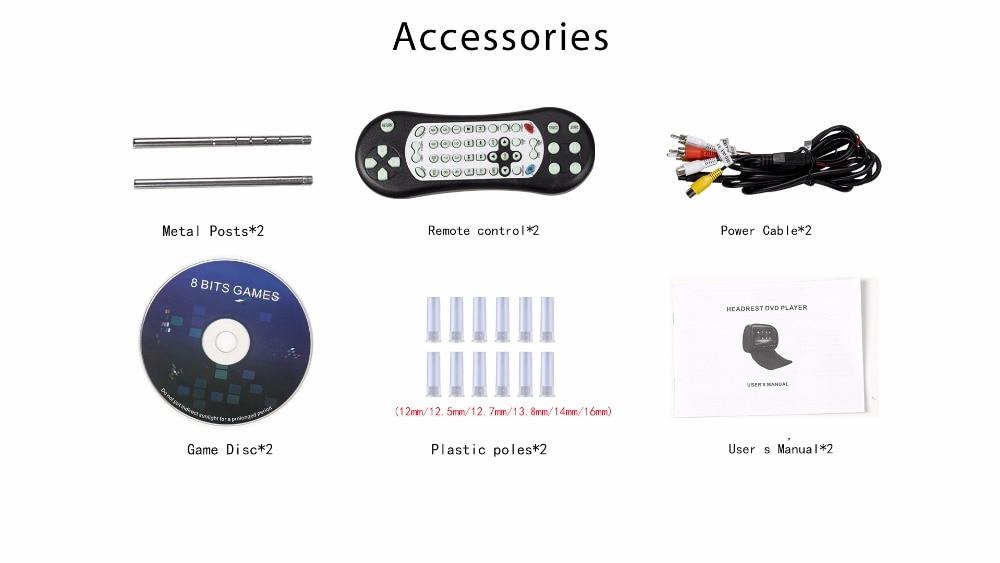 """RoverOne 2 шт. X """" HD сенсорный экран автомобильный подголовник dvd-плеер монитор с крышкой на молнии/USB/SD/IR/FM передатчик+ 2 ИК-наушники"""