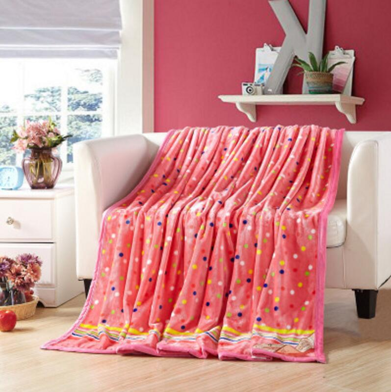 Coral Plush Bedding Soft Cotton Cartoon Blankets Children and adults used fot Air conditioning room reading car Travel Sleeping