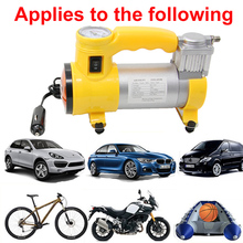Portable Air Compressor Heavy Duty 12V 150 PSI Tire Inflator Pump Car Care Tool for Car Motorcycles Bicycles Rubber Dinghy Ball