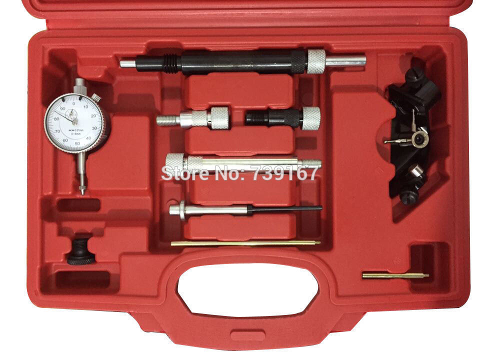 Diesel Engine Fuel Injection Pump Timing Alignment Indicator Tool Set For VW Audi BMW Fiat Ford Renault Rover Bosch Type ST0175 engine camshaft alignment timing tool kit for audi vw 2 0l fsi tfsi