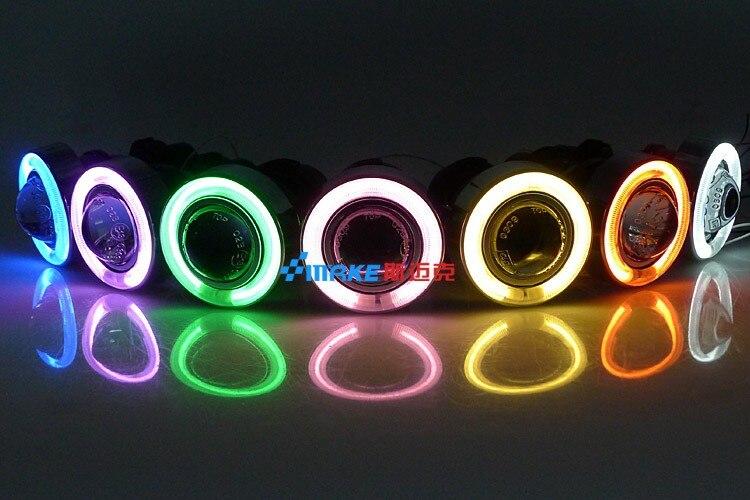 СВЕТОДИОДНЫЙ DRL Дневной ходовой светильник CCFL angel eye, объектив проектора противотуманная лампа с крышкой для chevrolet captiva 2008-10,2 шт