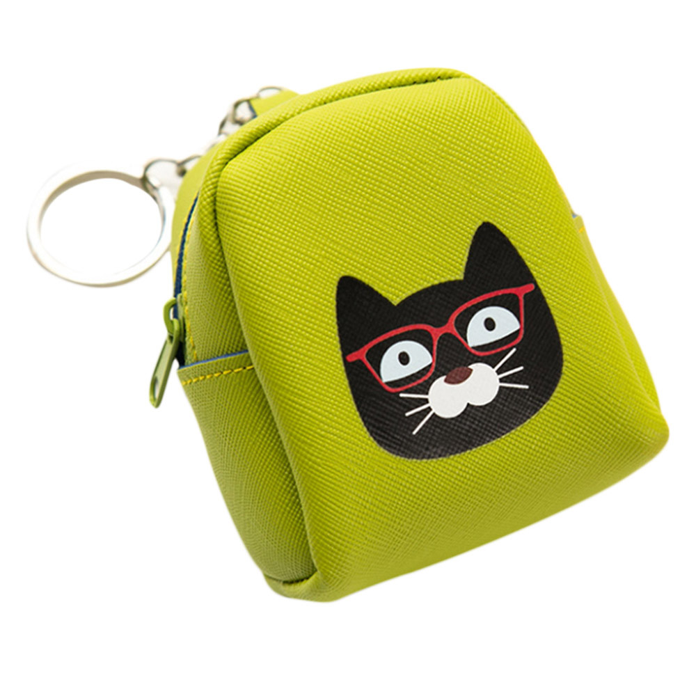 Coin Purse Bag Wallet Women Girls Cute Cartoon Dog Cat Printing Canvas Bags Animal Purses Bolsa Feminina cute cartoon women bag flower animals printing oxford storage bags kawaii lunch bag for girls food bag school lunch box z0