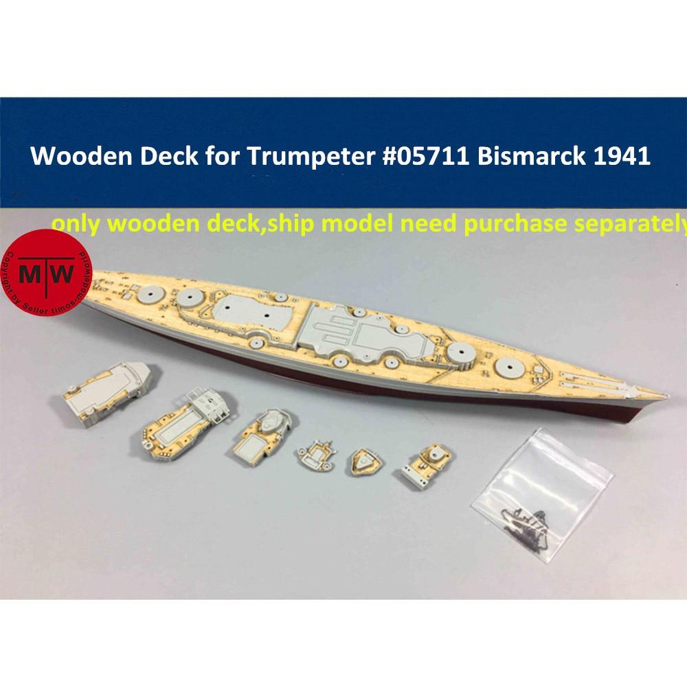 1/700 Scale Wooden Deck For Trumpeter 05711 Germany Bismarck Battleship 1941 Model Kits