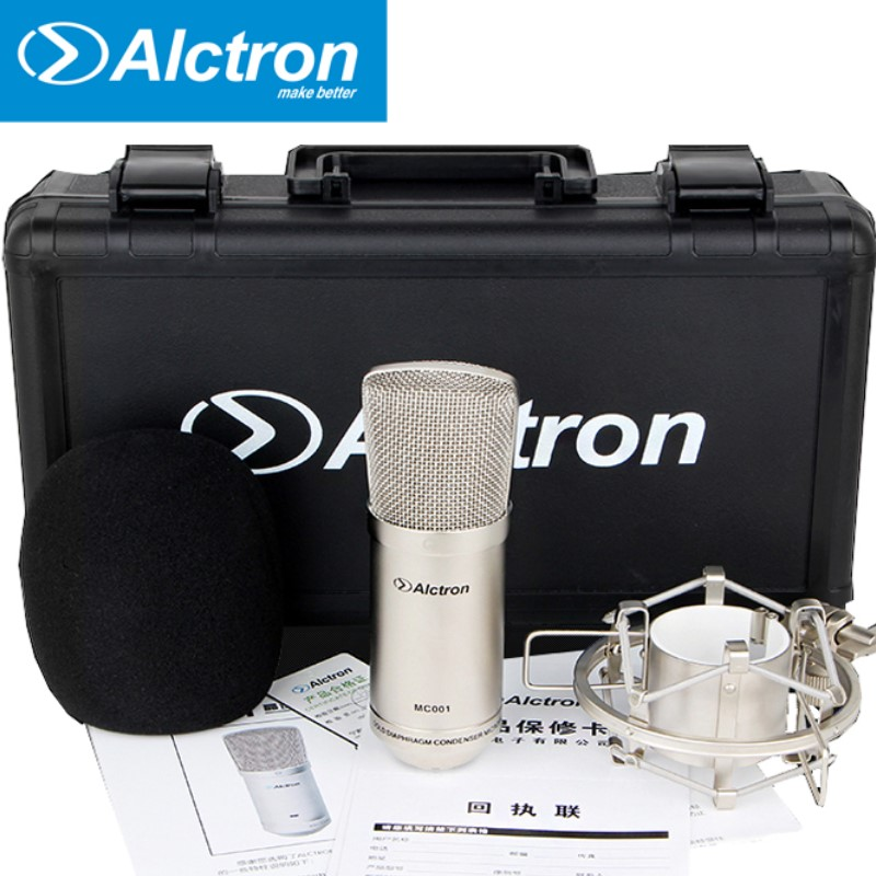 Original Alctron MC001 condenser microphone pro recording studio microphone With carrying case recording microphone