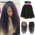 10A Malaysian Virgin Hair with Closure Malaysian Curly Hair with Closure Kinky Curly Hair Bundles with Lace Closures Queen Hair