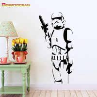 Star Wars Design Stormtrooper kinder Wandaufkleber Vinilos Adhesivos Decorativos Pared Removable Home Dekorationen Wandbild S-03