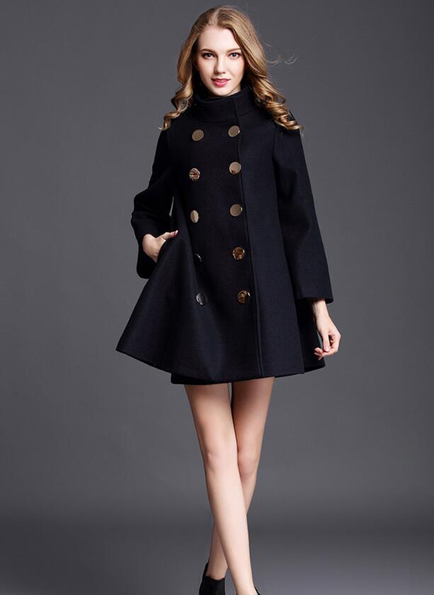 W112 Cachemire Blue Outwear Veste Mode Coton Manteau Automne De Navy rembourré Femmes 2018 Laine Manteaux Chaud Européenne wSBFUxHnqT