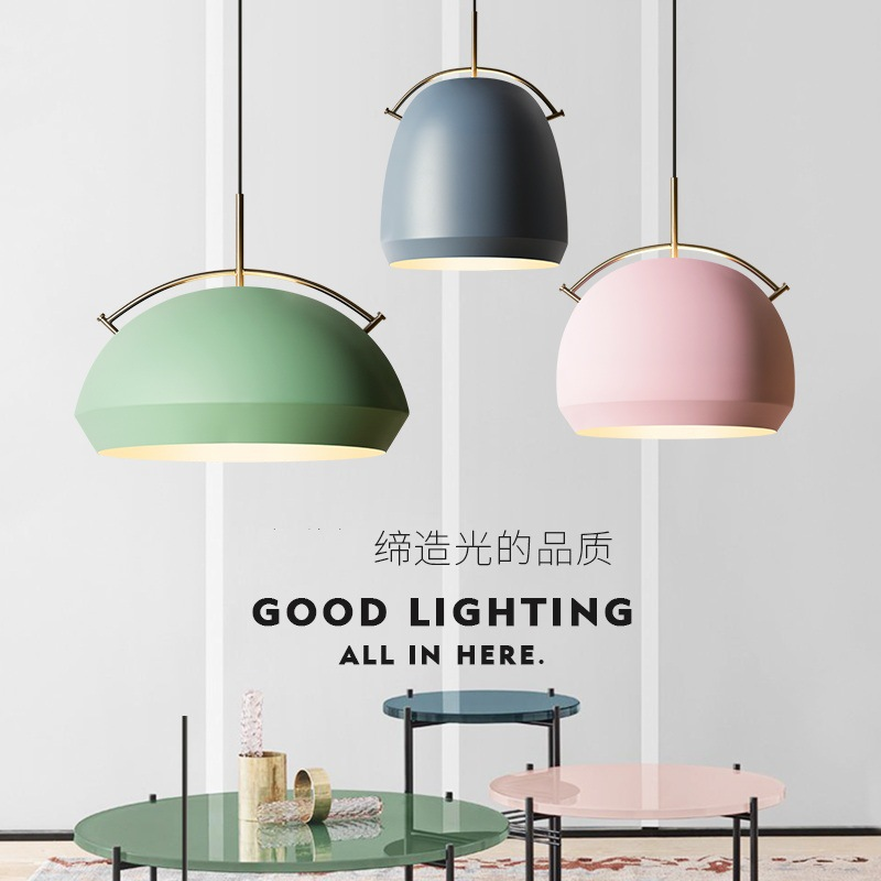 Modern minimalist restaurant Macarons Iron Chandelier Lamp personality one clothing store cafe bar lamp