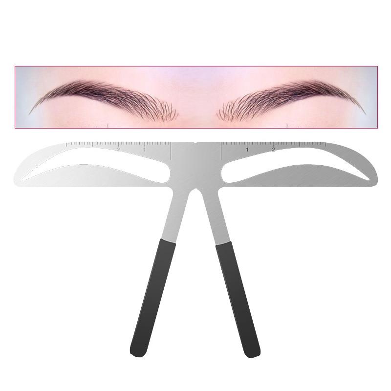 DIY Eyebrow Ruler Makeup Shaping Position Measure Tools Eyebrow Stencils Maquiagem Ruler Beauty Balance Tattoo Stencil Template