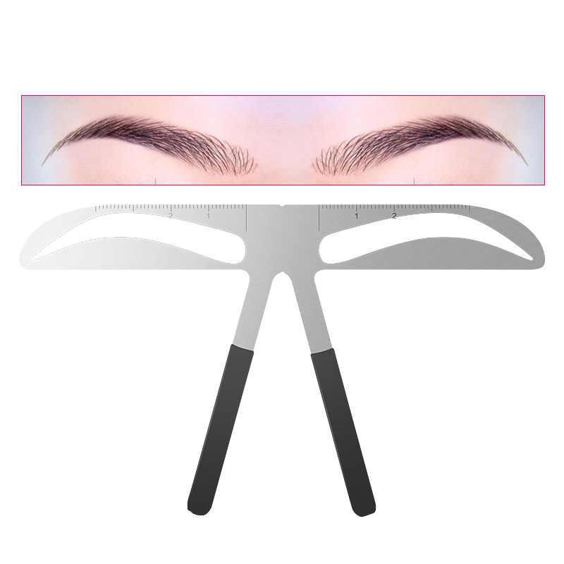 Diy 眉毛定規メイク位置測定ツール眉毛ステンシル maquiagem 定規美容バランスタトゥーステンシルテンプレート