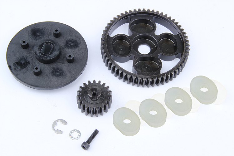 1/5 scale rc baja parts Rovan rc car spare parts 55T/19T metal high speed gear set 95068 front diff gear differential gear for wltoys 12428 12423 1 12 rc car spare parts