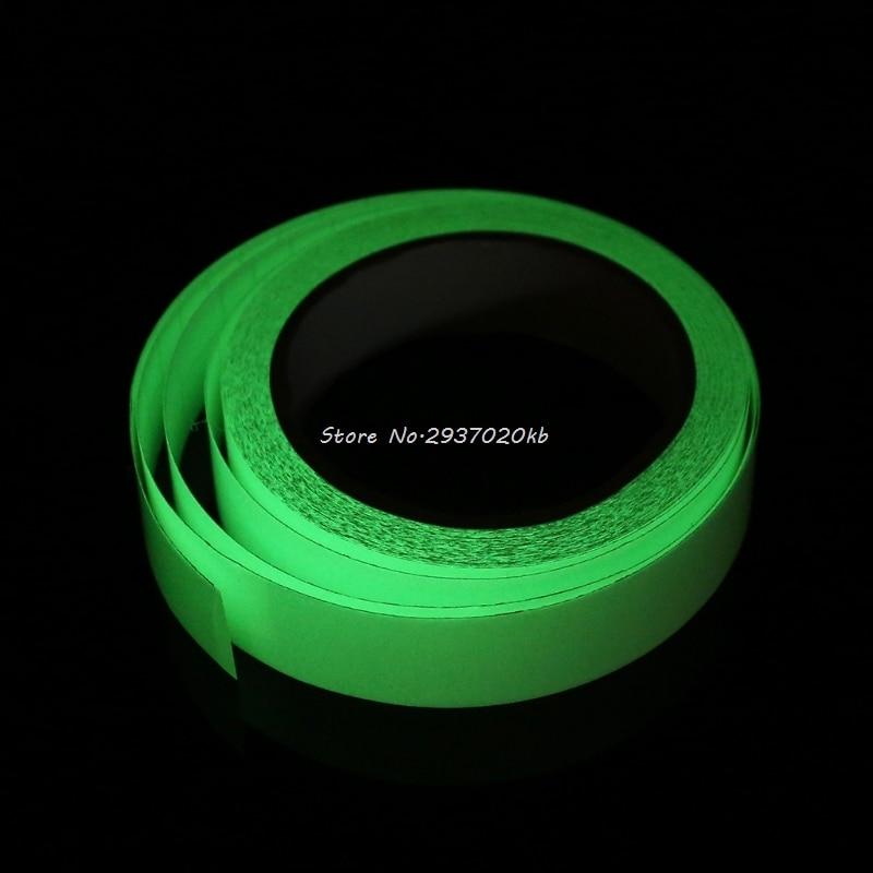 Temperate 2.5cmx9m Night Vision Luminous Self-adhesive Warning Tape Glow In Dark Safety Hull_9 Office Adhesive Tape