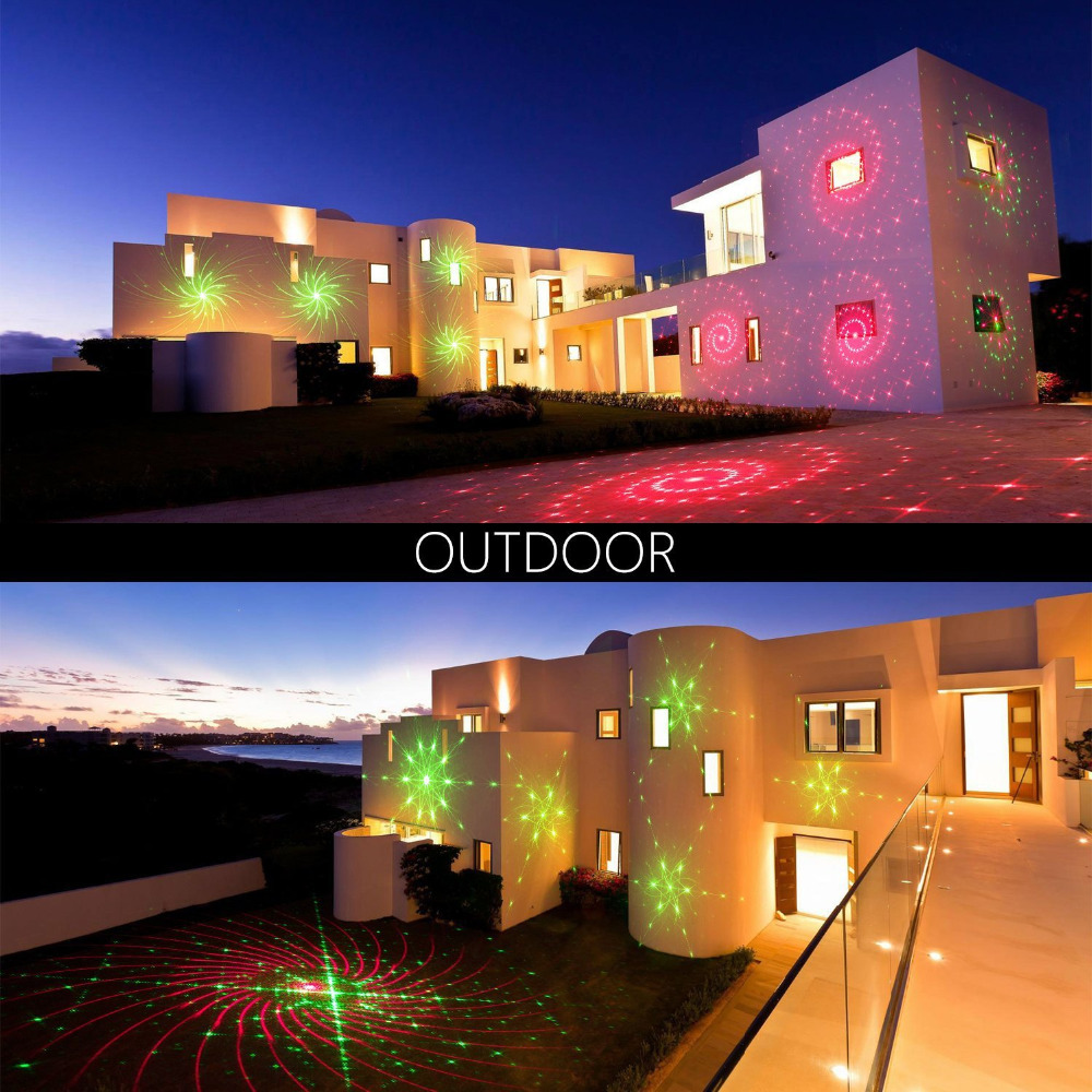 Laser Projektor Rote und Grüne Moving sternenhimmel Landschaft Licht ...