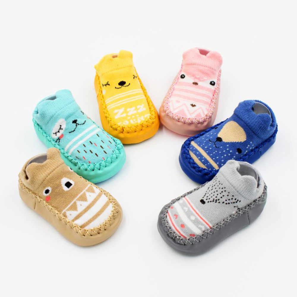 ทารกแรกเกิดเด็กวัยหัดเดินรองเท้านุ่มการ์ตูนทารกแรกเกิดเด็กทารก Anti-Slip ถุงเท้ารองเท้าแตะรองเท้าเด็กรองเท้า
