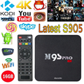 M9S-PRO Inteligente Android TV Box 4 K 2 GB Ram 16 GB Rom Amlogic S905 Quad Core XBMC H.265 DLNA Miracast Wi-fi Mini PC HD Media Player