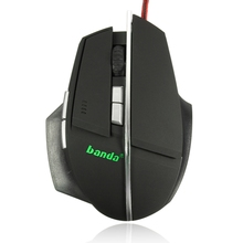 USB Wired Backlight Optical Gaming Mouse 800-2400 DPI Adjustable 6 Buttons Backlit Pro Game Mice For Computer PC Laptop